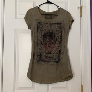 All Saints Latin Skull Short Sleeve T-shirt